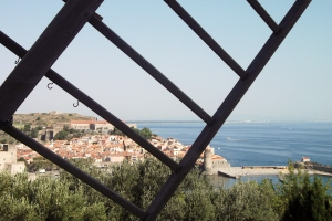 Collioure from the windmill in Parc Pams: August 2011