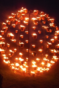 Fire Garden at Stonehenge by Compagnie Carabosse: July 2012
