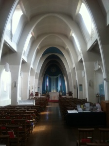 Interior of St Faith church